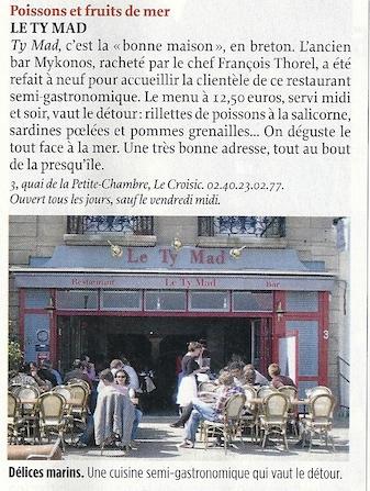 restaurant croisic gastronomique guerande